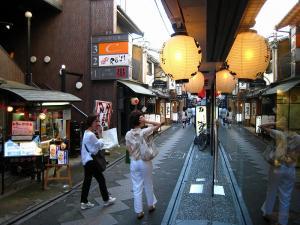 京都・祇園祭2009、先斗町通り夕景