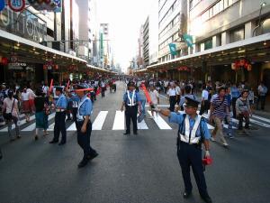 京都・祇園祭2009、宵々山・歩行者天国1