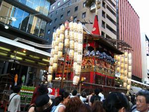京都・祇園祭2009、宵々山・歩行者天国、「函谷鉾」1