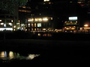 京都・祇園祭2009、宵々山・歩行者天国、三条大橋付近の夜景