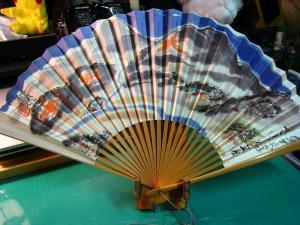 「京都五山送り火・大文字焼き」、十数年来愛用の扇子、祇園祭後=八月一杯愛用、1