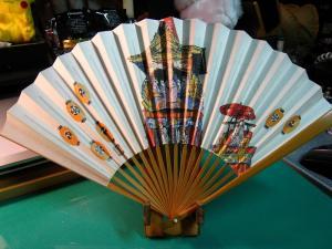 「祇園祭、月鉾巡行」、十数年来愛用の扇子、七月一杯・祇園祭の間愛用、1