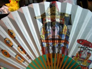 「祇園祭、月鉾巡行」、十数年来愛用の扇子、七月一杯・祇園祭の間愛用、2