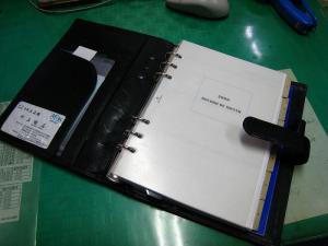 「バインデックスA5・BINDEX」、十年来愛用のシステム手帳、2、「アシュフォード・ASHFORD、月間ダイアリー1」