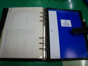 「バインデックスA5・BINDEX」、十年来愛用のシステム手帳、5、「アシュフォード・ASHFORD、A5レポート・パッド」