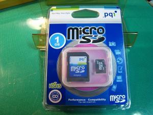 PQ1「マイクロSDカード、SDアダプター付き・1GB」
