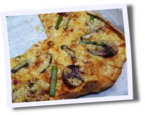 頂き物のピザ