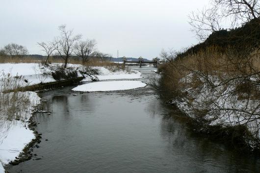 090222 梵字川から合流点を臨む
