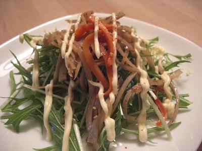 キンピラ水菜サラダ