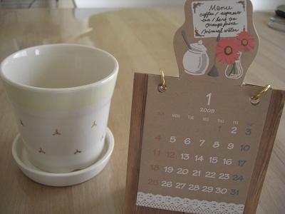 カレンダー&植木鉢
