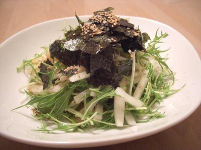 大根と水菜の韓国風サラダ