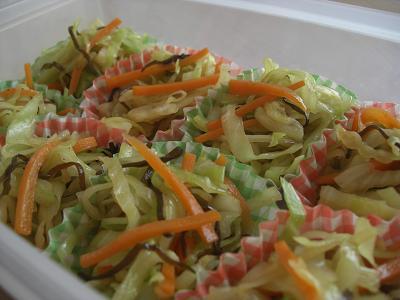 塩昆布野菜炒め