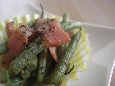 いんげん豆のマヨ炒め