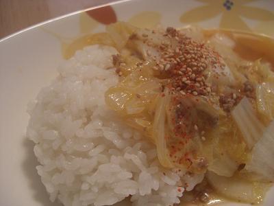 白菜の甘辛丼
