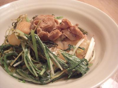 豚と水菜のすき煮