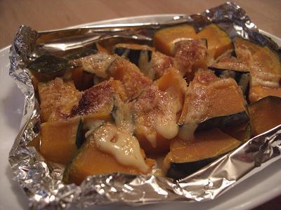 かぼちゃのマヨパン粉焼き
