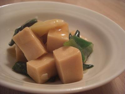 高野豆腐の甘酢あん