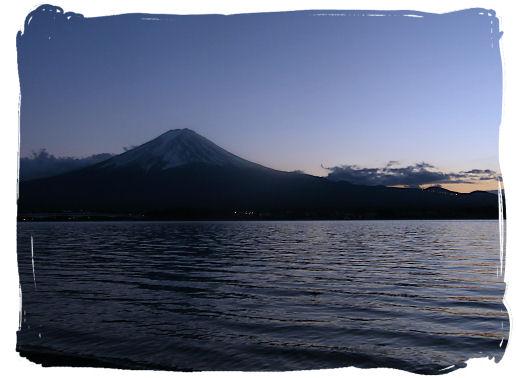 河口湖 夕景