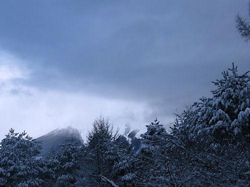 大寒の富士