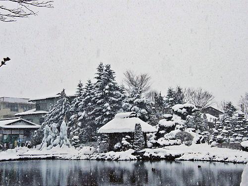 深雪、忍野村
