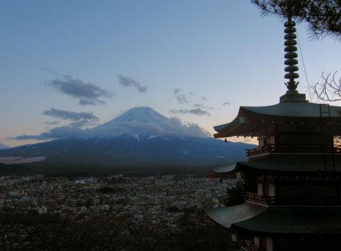 f富士北麓、春の実感