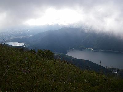 雪頭ヶ岳から足和田山