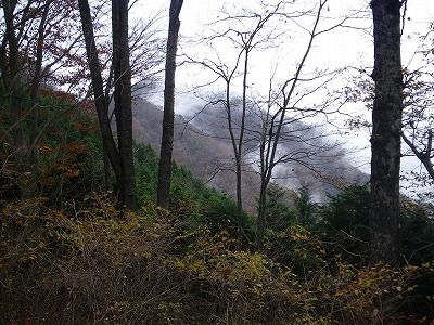 雨降山への途中から