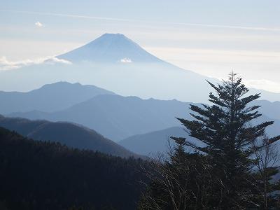 牛奥の雁ヶ腹摺山からの富士