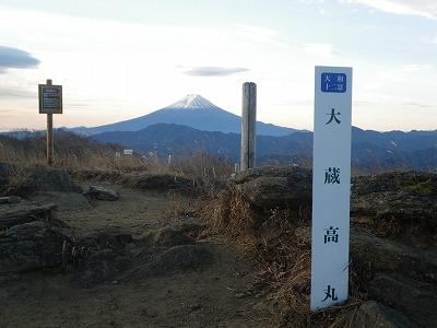 大蔵高丸からの富士