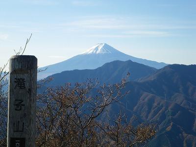 滝子山からの富士