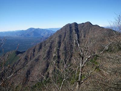 十二ヶ岳への途中から鬼ヶ岳