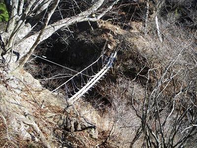 十二と十一のコルの吊橋