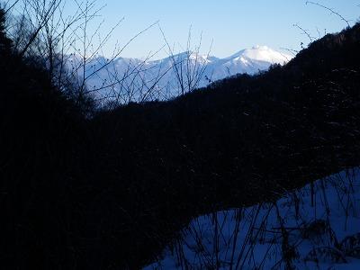 林道から浅間山