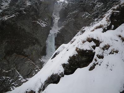 二俣手前の氷瀑
