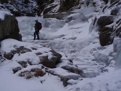 二俣上の滑滝