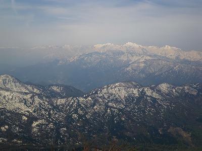 頂上からの後立山
