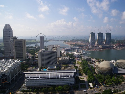シンガポールのスイスホテルから