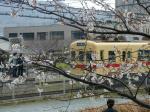 津屋崎駅に入る電車
