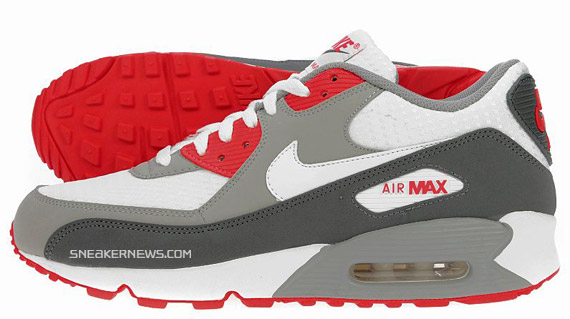 air max 90 red grey white
