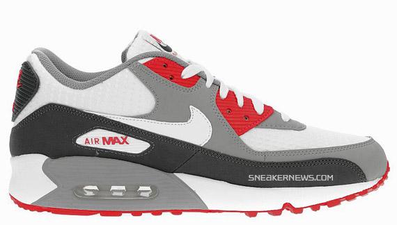 air max 90 red grey