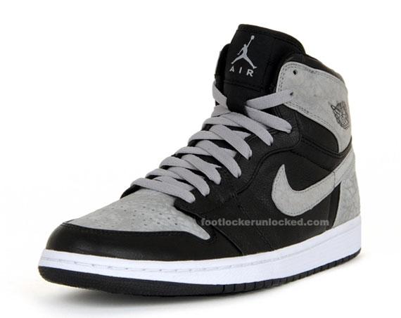 Air Jordan Retro 1 Grey And Black