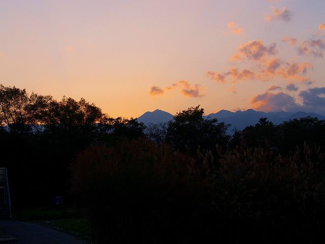 安曇野の夕日