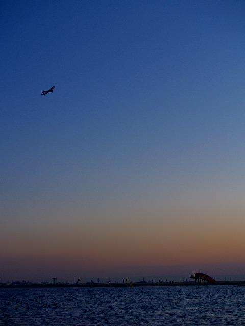 夕暮れのフライト