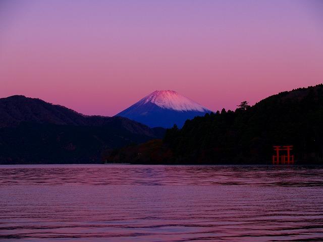 芦ノ湖と富士ー2