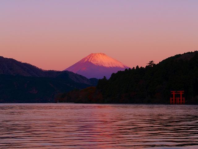芦ノ湖と富士ー3