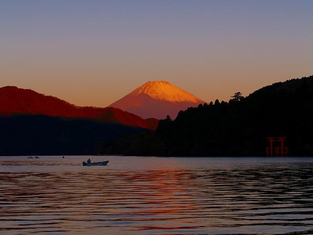 芦ノ湖と富士ー4