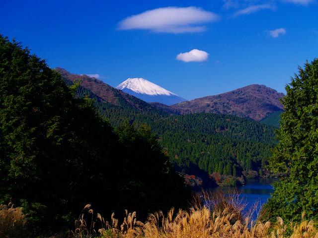 芦ノ湖と富士ー5