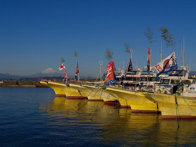新年の茅ヶ崎漁港