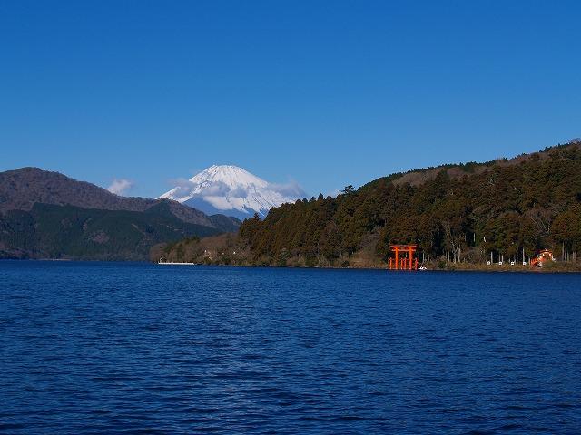 富士山と箱根神社