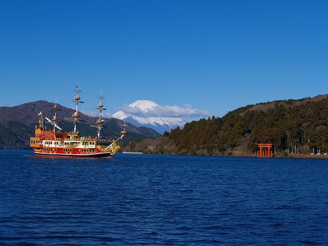 富士山と海賊船